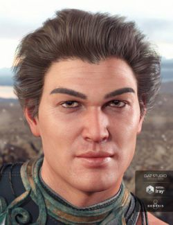 Aegeus Hair for Genesis 8 and 3 Male(s)