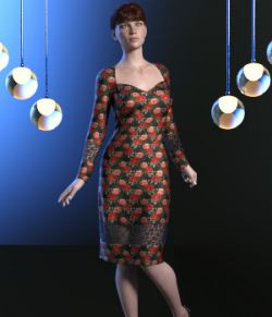 dForce Cocktail Rose Dress for G8F