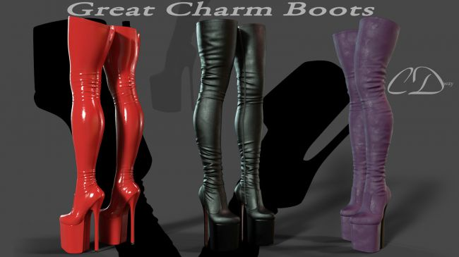 Great Charm Boots for g3f g8f