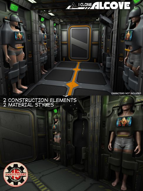 I Clone Alcove for Poser and DS
