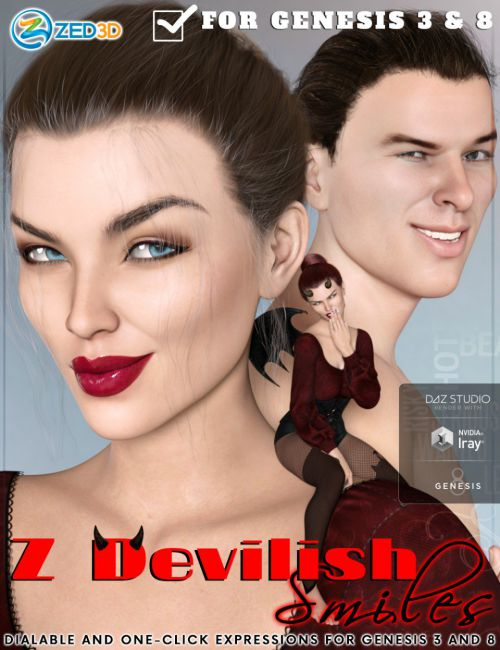 Z Devilish Smiles and Expressions for Genesis 3 and 8