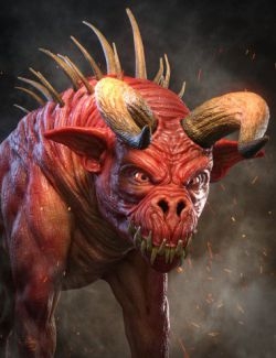 Demon Dog HD for Daz Dog 8