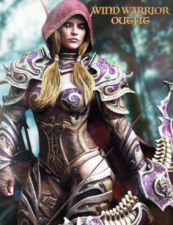 Wind Warrior Outfit with dForce for Genesis 8 Female(s)