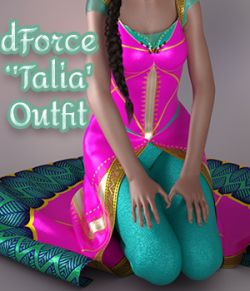 a93 - dForce Talia Outfit for G8F