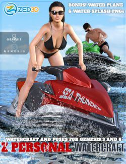 Z Personal Watercraft and Poses for Genesis 3 and 8