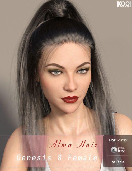 Alma Hair for Genesis 8 Female(s)