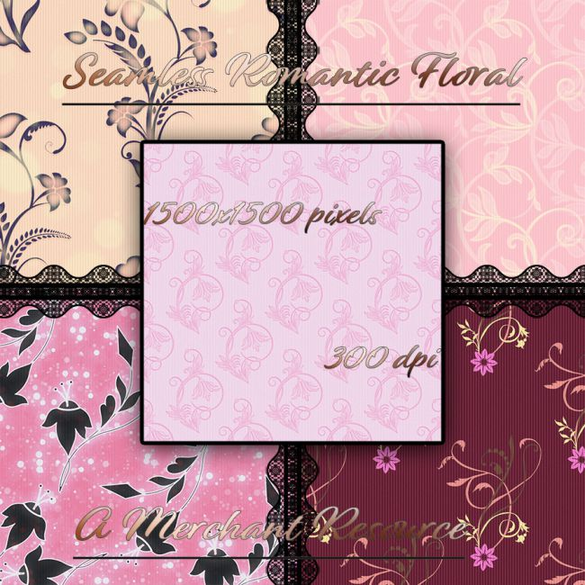 Seamless Romantic Floral Patterns