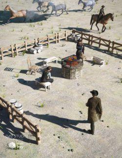 Ranch Campfire Scene
