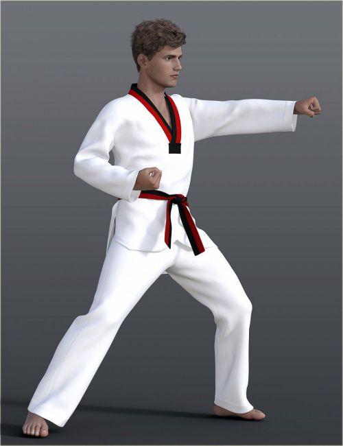 dForce H&C Taekwondo Suit for Genesis 8 Male(s)