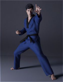 dForce H&C Taekwondo Suit for Genesis 8 Male(s)