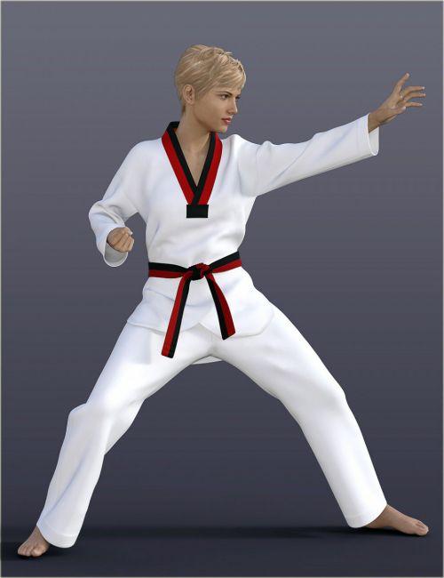 dForce H&C Taekwondo Suit for Genesis 8 Female(s)