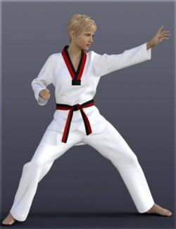 dForce H&C Taekwondo Suit for Genesis 8 Female(s)