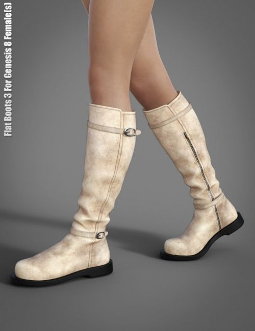 Flat Boots 3 for Genesis 8 Female(s)