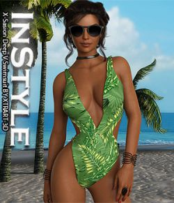 InStyle- X-Sasion Deep V Swimsuit
