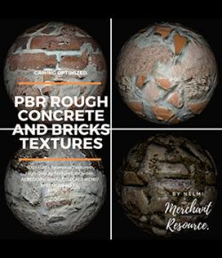 PBR Rough Concrete and Bricks Textures- MR