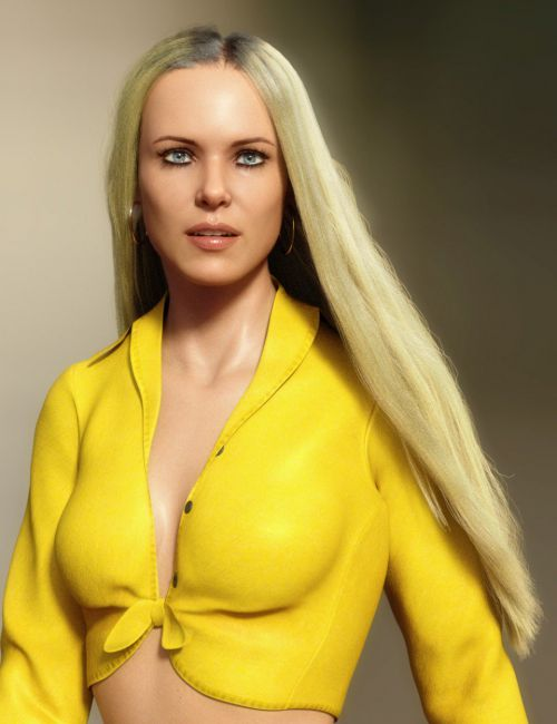 dForce Longdrape Hair for Genesis 3 and 8 Female(s)