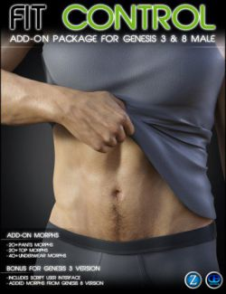 Fit Control Add-On for Genesis 3 & 8 Male