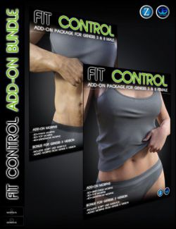 Fit Control Add-On for Genesis 3 and 8 Bundle