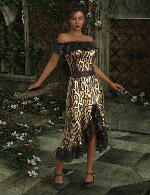 InStyle - dForce Flirty Flamenco Suit for Genesis 8 and Genesis 3 Female