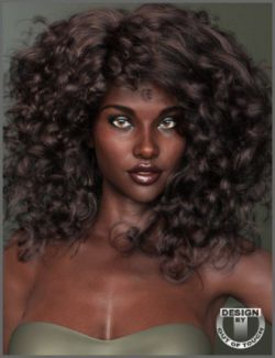 Untamed Curls Hair for Genesis 3 and 8 Female(s)