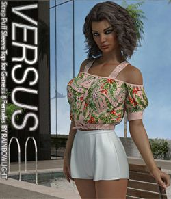 VERSUS - Strap Puff Sleeve Top for Genesis 8 Females