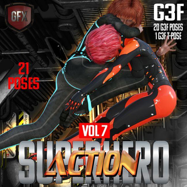 SuperHero Action for G3F Volume 7