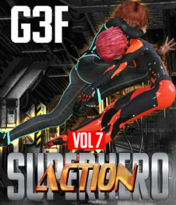 SuperHero Action for G3F Volume 7
