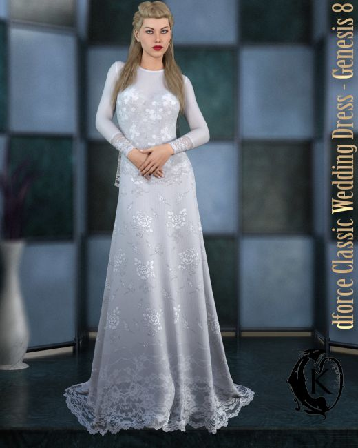 dforce - Classic Wedding Dress - Genesis 8