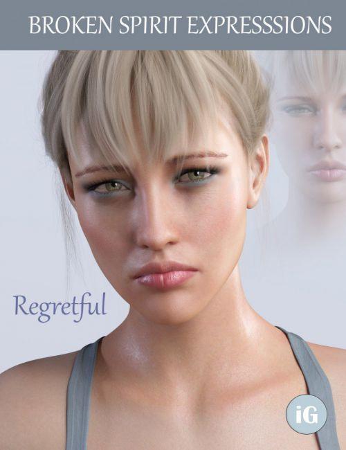 iG Broken Spirit Expressions for Genesis 8 Female