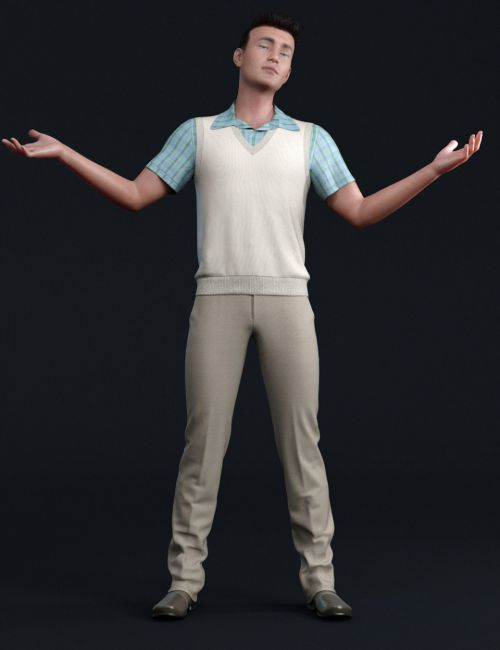 dForce Semi-Casual Outfit for Genesis 8 Male(s)