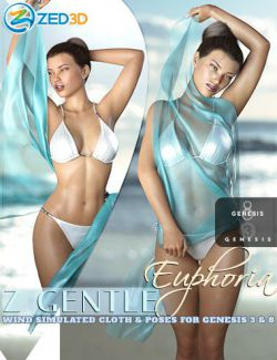 Z Gentle Euphoria Cloth and Poses for Genesis 3 and 8 Female