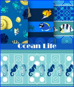 Seamless Ocean Life Patterns