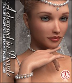 Adorned in Pearls for La Femme Poser Figure