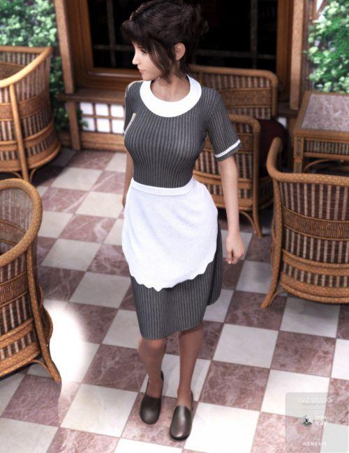 dForce Retro Waitress Uniform for Genesis 8 Female(s)
