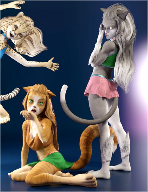 Catgirl Megapack for Genesis 8 Female(s)