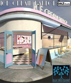 Ice Cream Parlor for Daz Studio