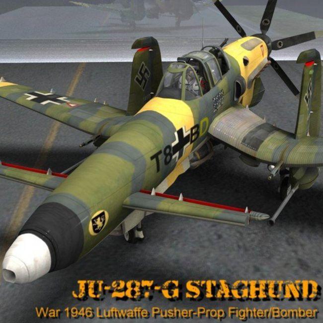 Ju-287-G/1 Staghund for Poser