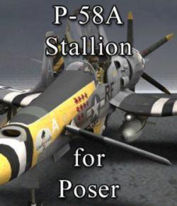 P-58 Stallion for Poser