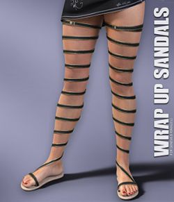 Wrap Up Sandals for Genesis 8 Females