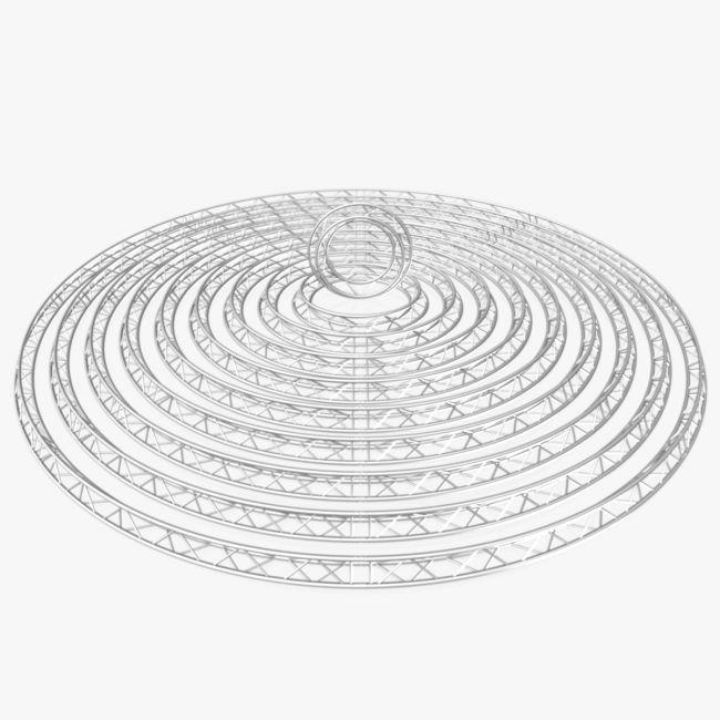 Circle Triangular Truss Modular Collection -10 Modular Pieces -Extended License