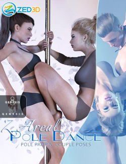 Z Aerial Pole Dance and Poses for Genesis 3 and 8