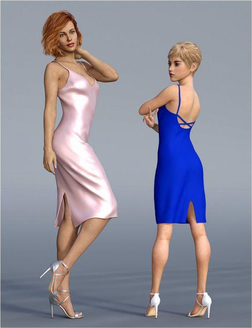 dForce H&C Open Back Dress for Genesis 8 Female(s)