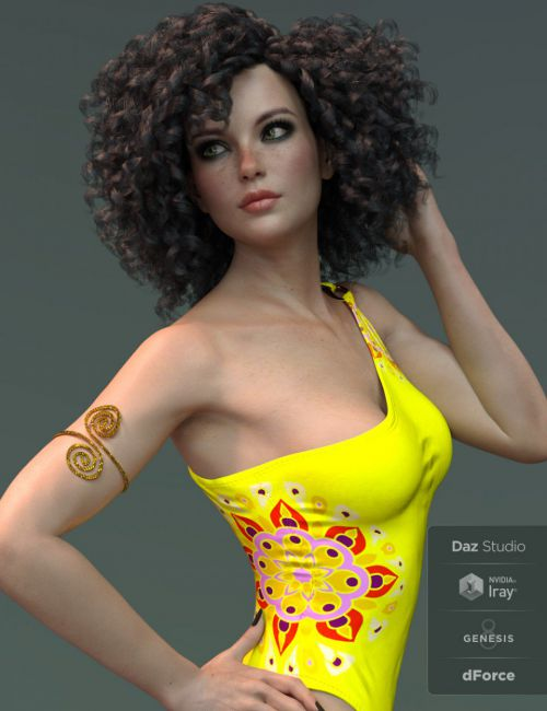 X-Fashion Mandala Swimsuit for Genesis 8 Female(s)