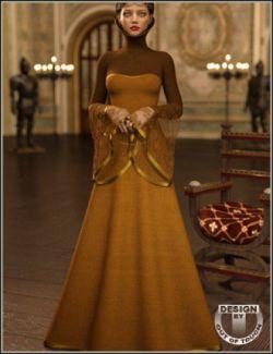 dForce High Fantasy Dress for Genesis 8 Female(s)
