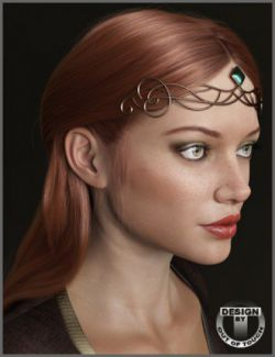 Adeline Hair and Circlets for Genesis 8 Female(s)