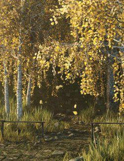 v176 Iray Birch Grove