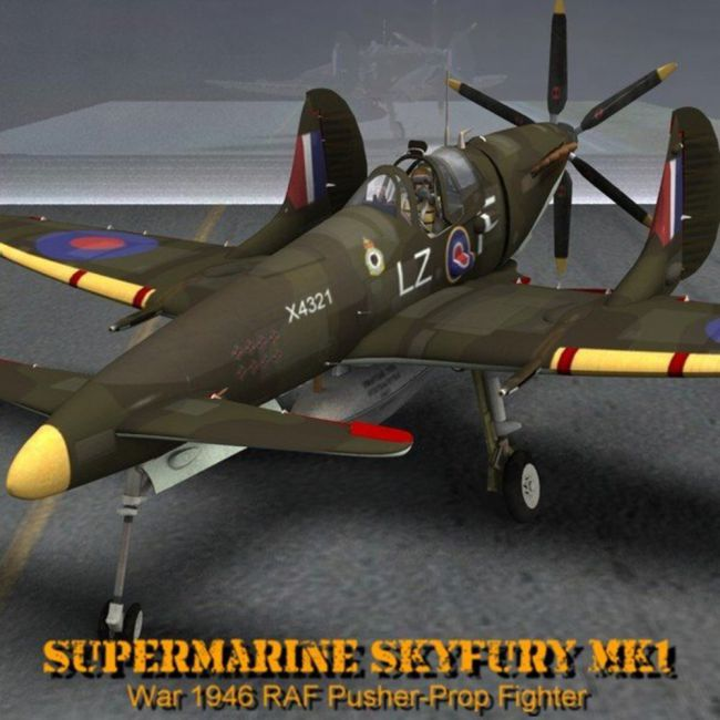 Supermarine SkyFury Mk1 for Poser