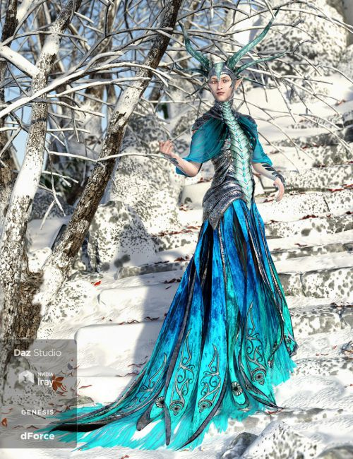 dForce Dragon Empress Base Outfit for Genesis 8 Female(s) by Arki