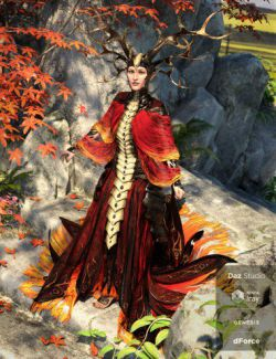 dForce Dragon Empress Outfit Addon for Genesis 8 Female(s)