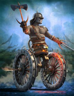 Medieval Cyborg Chariot for Genesis 8 Male
